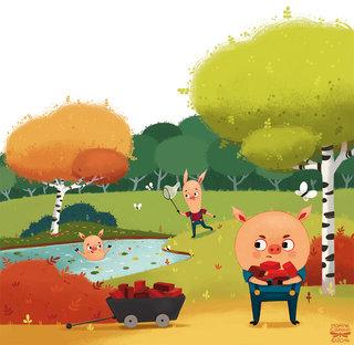 Les 3 petits cochons © HEMMA Editions 2016
