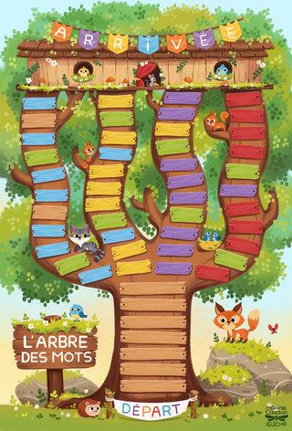 Plateau de jeu L'arbre des mots © Jocatop Editions