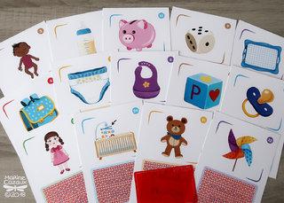 Cartes enfant/bebe pour le jeu L'arbre des mots © Jocatop Editions