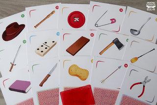 Cartes objets pour le jeu L'arbre des mots © Jocatop Editions