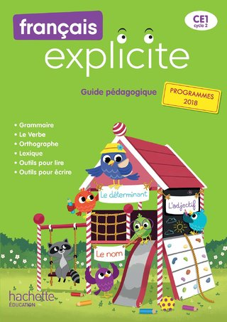 Couverture - manuel français explicite CE1 © Hachette Education