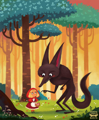 Chaperon rouge - illustration personnelle