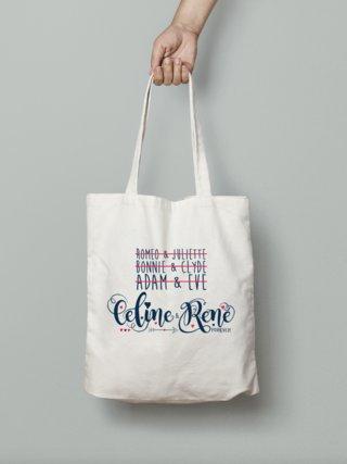 """""""Céline & René forever"""" Tote bag illustration"""