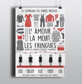 """Affiche """" L'amour, La Mort, Les Fringues """""""