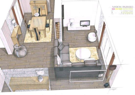 Marion pautasso portfolio design d 39 espace for Salle a manger dessin anime