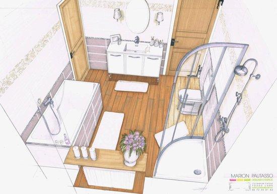 Marion pautasso portfolio design d 39 espace for Dessin de salle de bain
