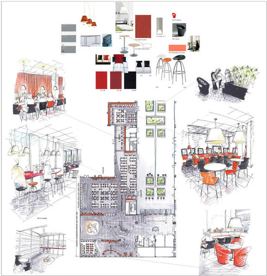 Marjolaine hess portfolio book in progress - Plan amenagement cuisine 8m2 ...