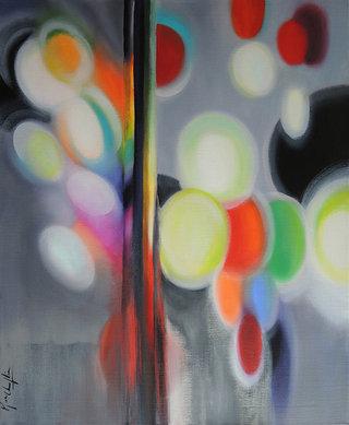 Echoes, acrylique sur toile, 60x73cm