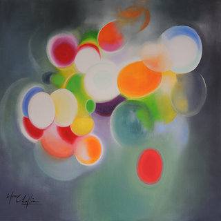 Illusion of freedom, acrylique sur toile, 80x80cm