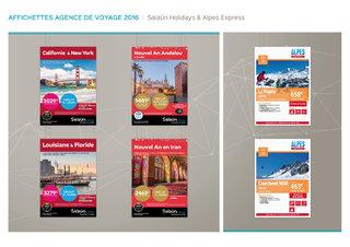 Affichettes agences de voyage - Salaün Holidays