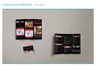Flyer & carte de fidélité - Enzo's pizza