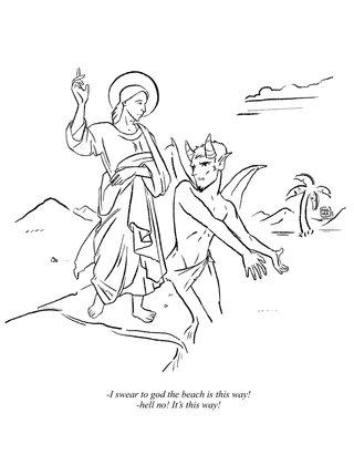 Jesus dans le désert