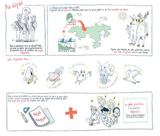 Planche de bd projet faune en bulles