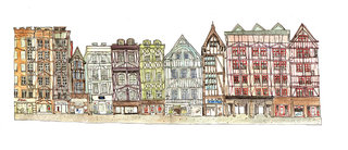 rue du gros horloge de Rouen
