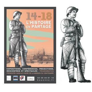 "Bayonne, 2014, projet affiche ""Guerre 14-18"""