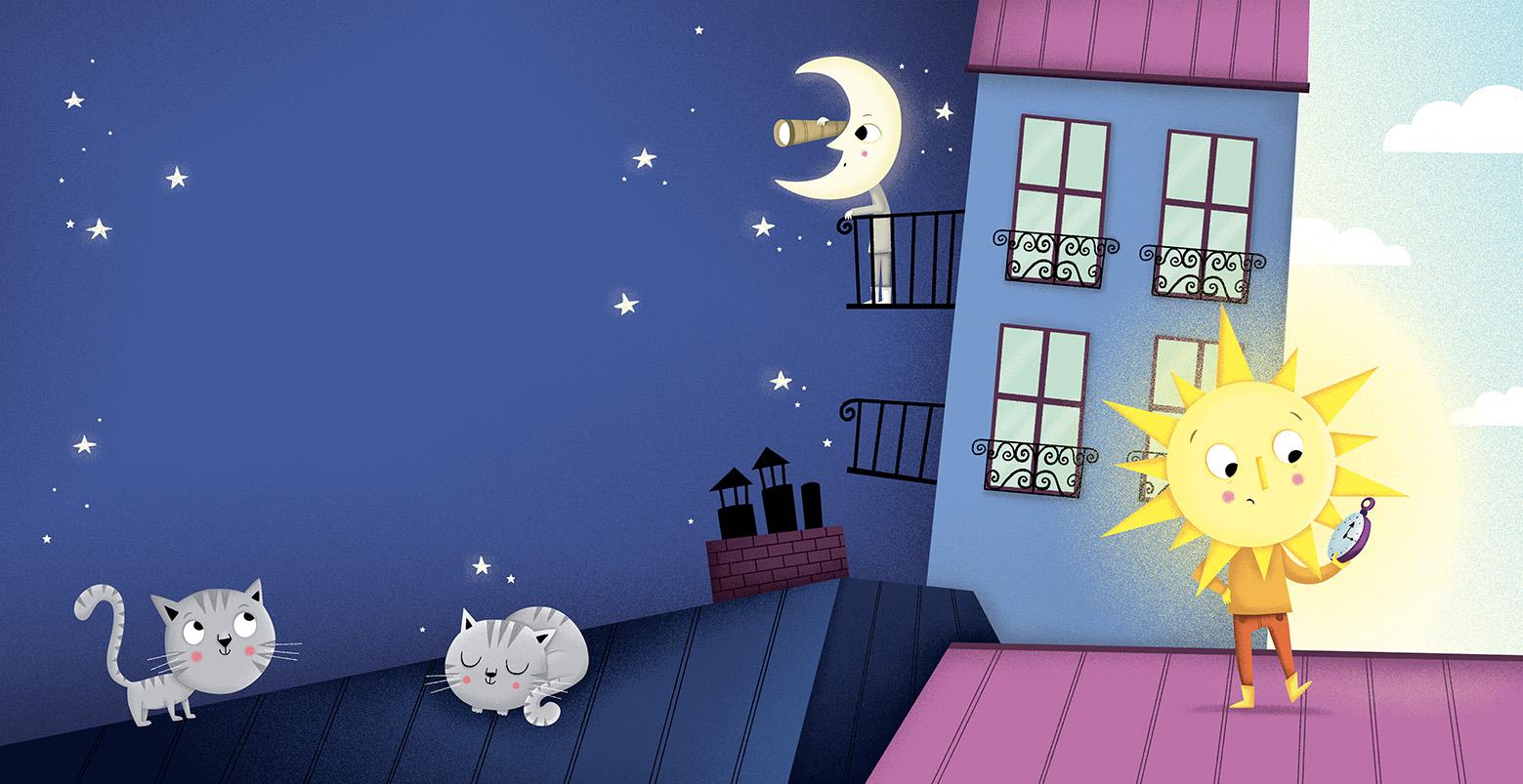 soleil a rendez vous avec la lune
