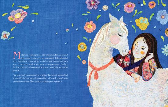 La fille et le cheval blanc