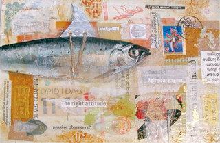 Mail art : Sardine optimiste