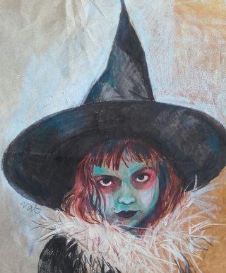 Petite sorcière d'Halloween