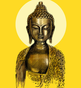 bouddha illustration numérique