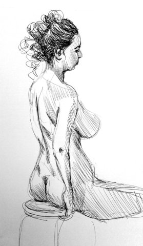 croquis stylo bille