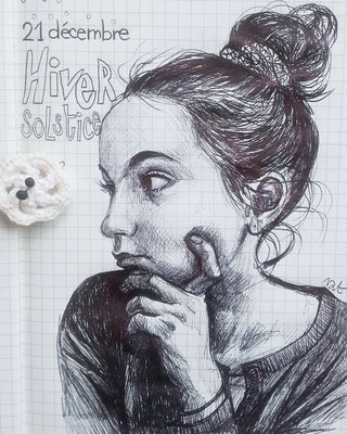 portrait au stylo bille