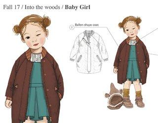 illustration cahier de tendance Enfant