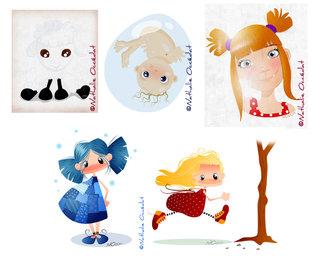 Petit mouton, Bébé, Fillette et Les Petites