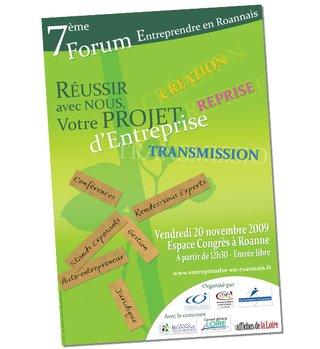 Affiche 7ème Forum Entreprendre en roannais