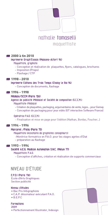 nathalie tomaselliparcours professionnel   cv