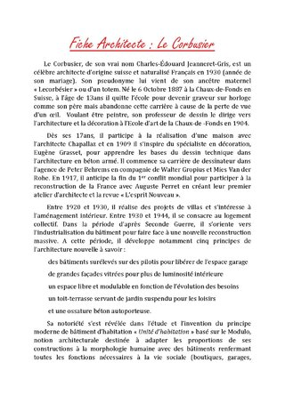 Fiche architecte Le Corbusier 1- Mathieu NIVOR