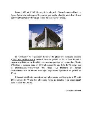 Fiche Architecte Le Corbusier 3 - Mathieu NIVOR
