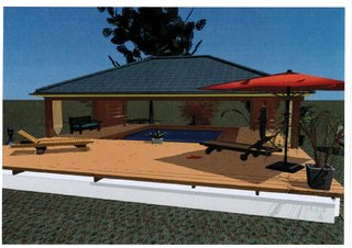 Projet Solarium Habitation Martinique - Vue de face Architecte 3D