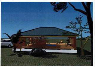 Projet Solarium Habitation Martinique - Vue arrière Architecte 3D