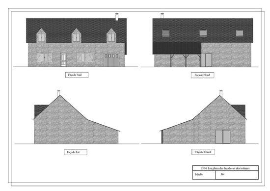 Ultra book de ocespace portfolio visuels 3d plan - Plan des facades et des toitures ...