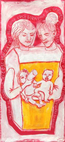 Marjorie et sa famille