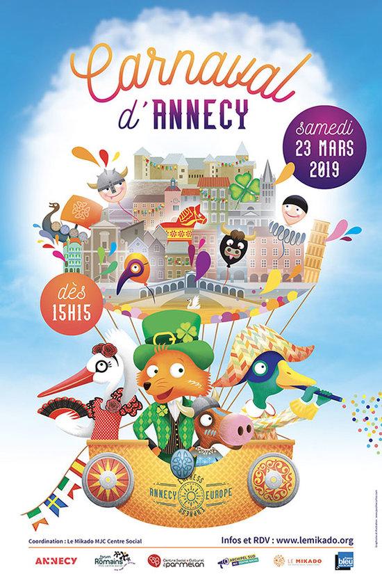 Affiche du Carnaval d'Annecy 2019