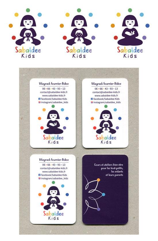 Identite visuelle de Sabaidee Kids, ateliers bien-être familles