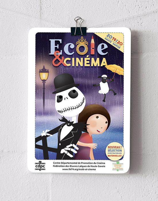 Affiche et plaquette Ecole et Cinéma 2019/20