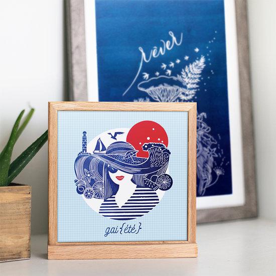 Carte postale et gravure