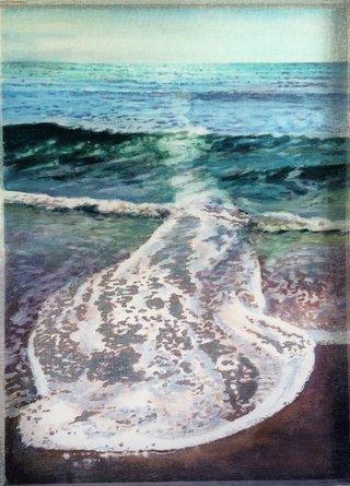 Une vague (traine blanche)