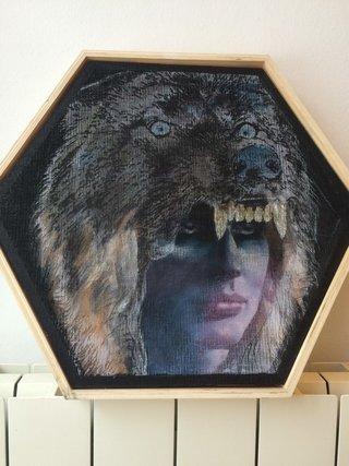 la chamane au masque de loup