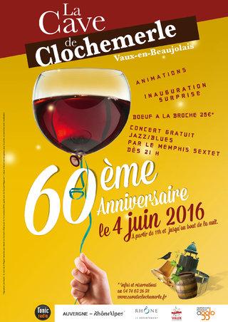 Cave de Clochemerle - Affiche 60ème anniversaire