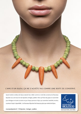 Nouveaux Bijoutiers - Annonce presse féminine - Photo : Christian Chaize