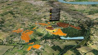 Zones de terroirs du Château Reignac en 3D