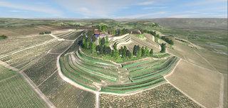 Modélisation en 3D des terrasses du Château de Pressac