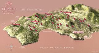 3D du vignoble de Saint-Tropez