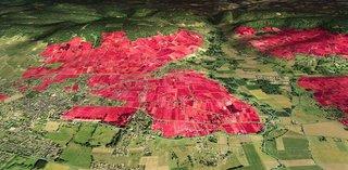 Modélisation en 3D du vignoble de Bourgueil