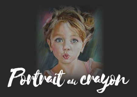 Ultra-book de portrait-crayon