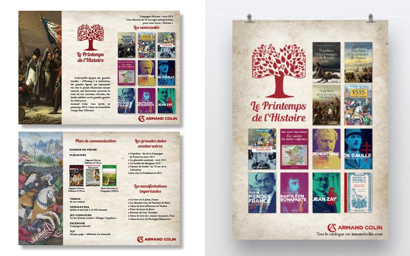 Armand Colin<br/><span>Affiche Le printemps de l'Histoire et recto verso d'un flyer.</span>
